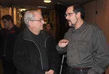 Con el compositor y pianista acompañante de las sesiones de cine mudo de la Filmoteca de Catalunya, Joan Pineda (2010)