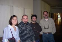 Con mis colegas Teresa Fraile, Joaquín González López y Jaume Radigales en la sede del V Simposio La creación musical en la banda sonora (Salamanca, 2010)