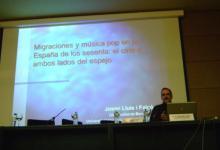 Durante la ponencia plenaria del VII Simposio La creación musical en la banda sonora (Oviedo, 2012)